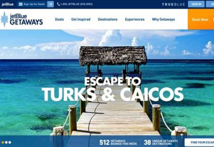 JetBlue Getaways to Partner