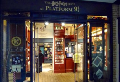 Harry Potter 9 3/4 Shop Opens at London Kings Cross Station