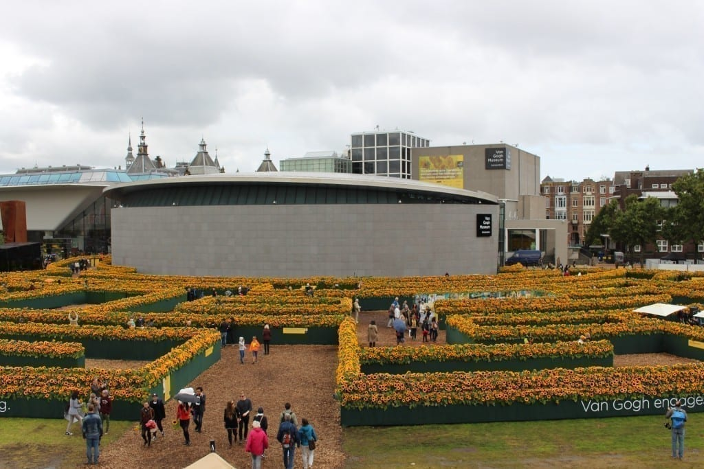 Van Gogh Sunflower Labyrinth