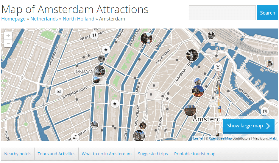 Map of Amsterdam Attractions