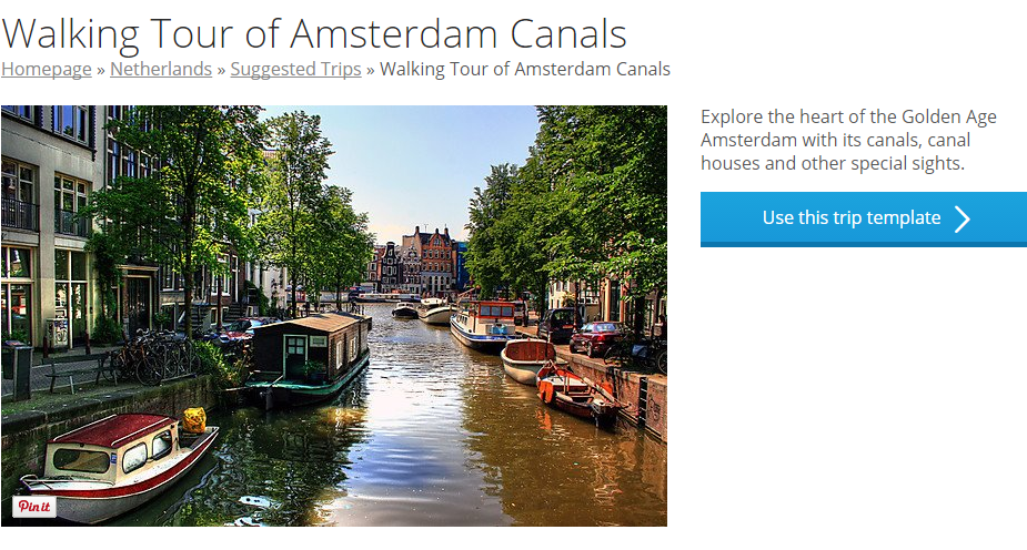 Walking Tour of Amsterdam Canals