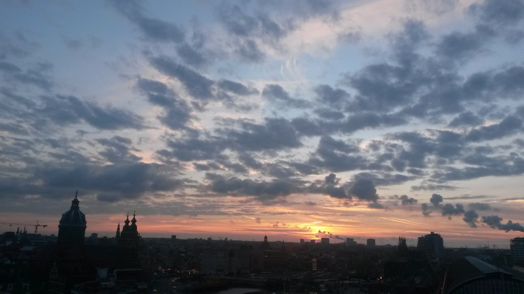 Amsterdam Skyline Sunset