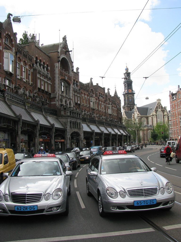 Amsterdam Taxis - Photo credit Sherman W.