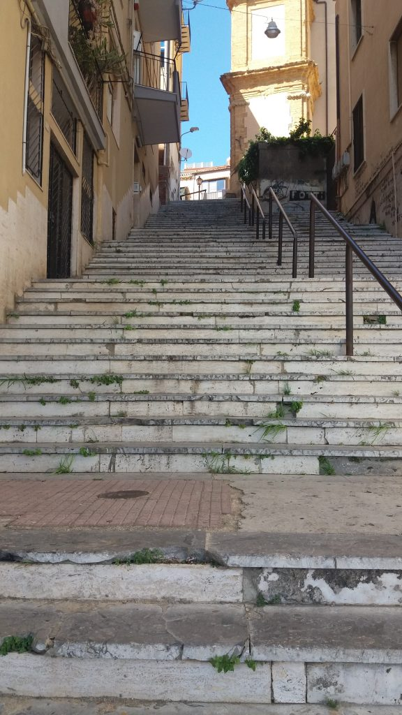 agrigento has lots of steps