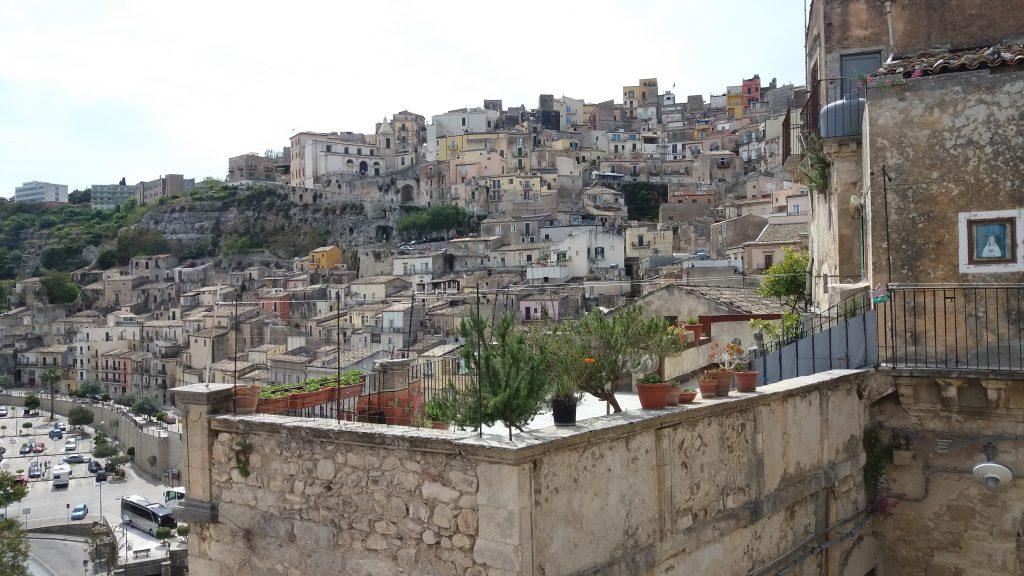 Looking back to Ragusa Ibla