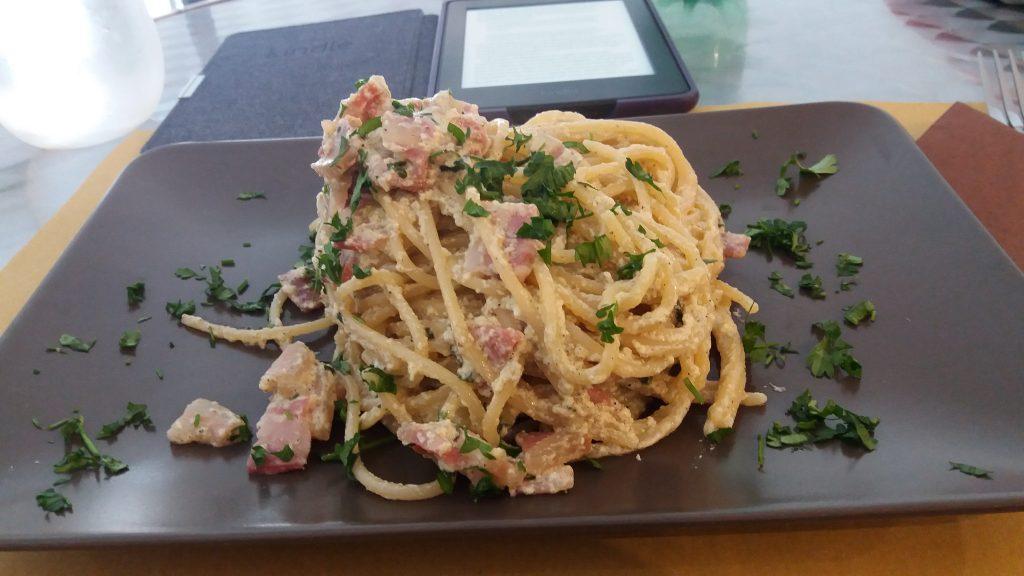 cabornara pasta that used ricotta cheese