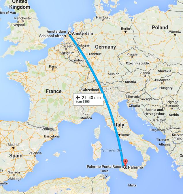 Amsterdam to Palermo