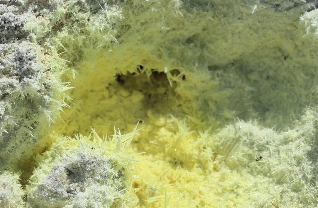Spectacular sulphur fumaroles