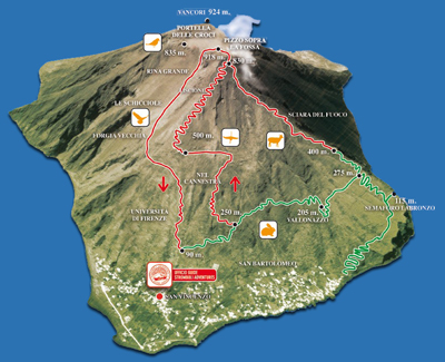 Map of the island - Stromboli Adventures