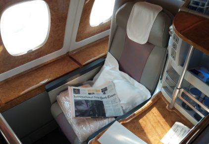 Emirates Business Class Hong Kong to Amsterdam