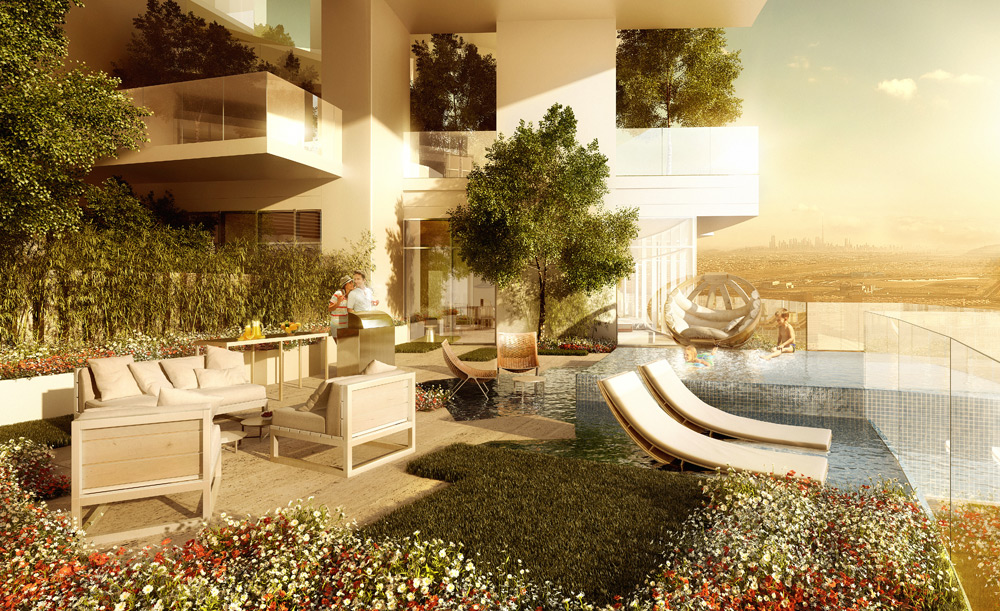 FIVE Jumeirah Village Dubai terrace large