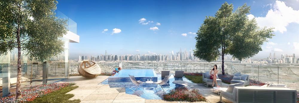 FIVE Jumeirah Village Dubai view