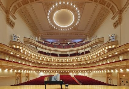 Carnegie Hall - Stern Auditorium / Perelman Stage - Photo credit carnegiehall.org