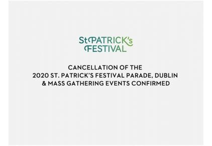 St Patrick's Day 2020 cancelled