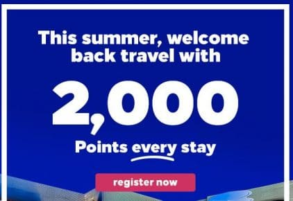 2,000 Bonus Points + flexible cancellation