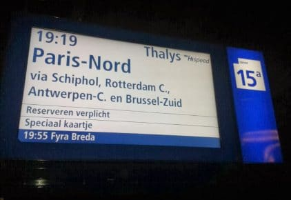 Amsterdam to Paris Train