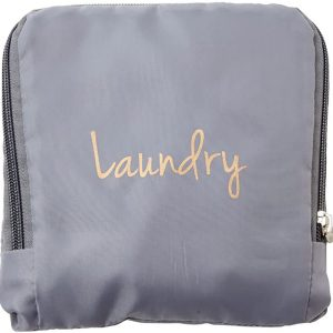 Miamica Laundry Bag, Assorted Styles, Grey & Gold, One Size